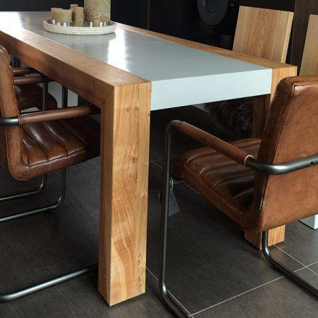 Betontisch Oliver mit Kernesche 2 Beton Pinterest - gebrauchte küchen koblenz