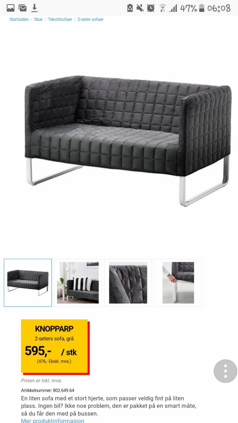 Topnotch 80) FINN – Helt ny Liten sofa   Furniture   Sofa, Ikea IZ-59