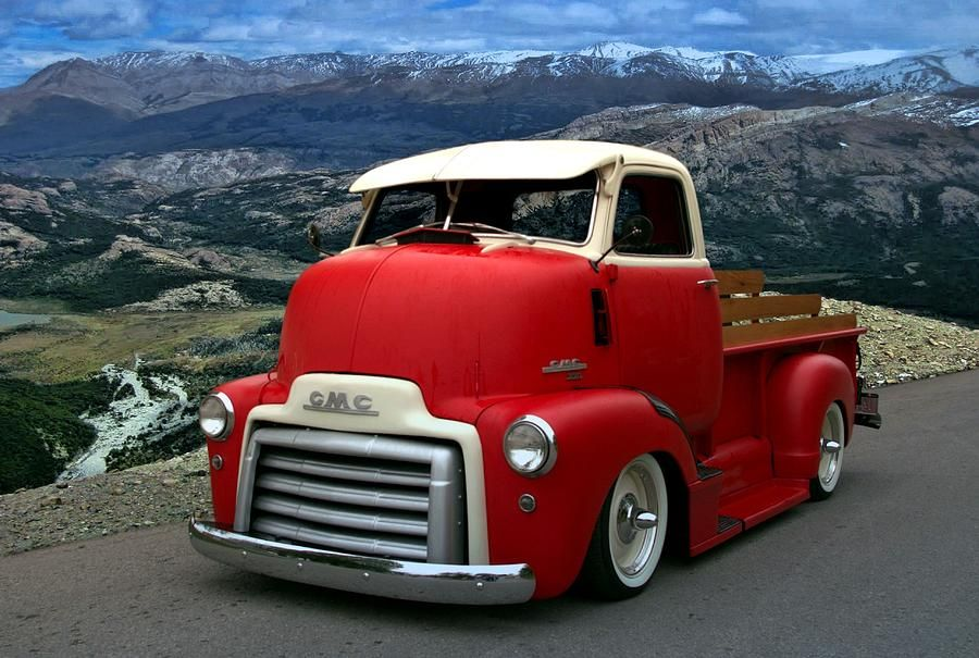 Old Pickup Trucks | ... Pickup Truck Photograph - 1949 Gmc Cab Over ...