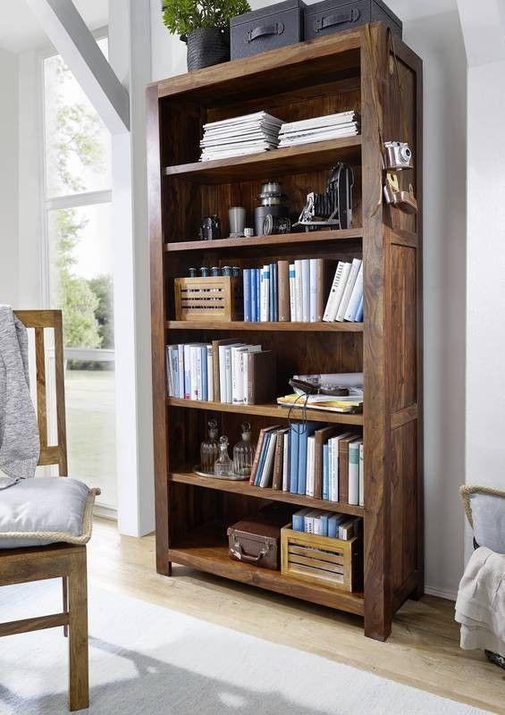 Sheesham Massivholz Regal Palisander Möbel METRO LIFE #104 Jetzt - wohnzimmer regale design