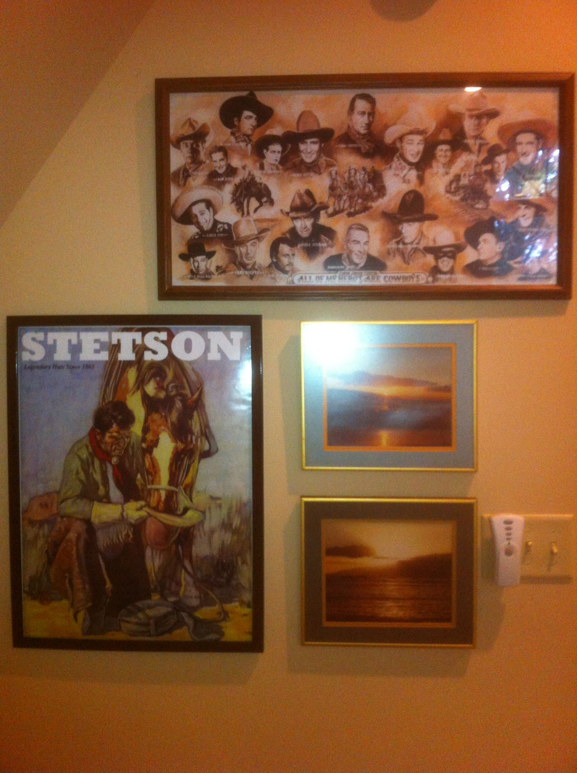 """""""All of My Heros Are Cowboys"""" + Stetson Poster + 2 photos from Hawaii (ca 1975)"""
