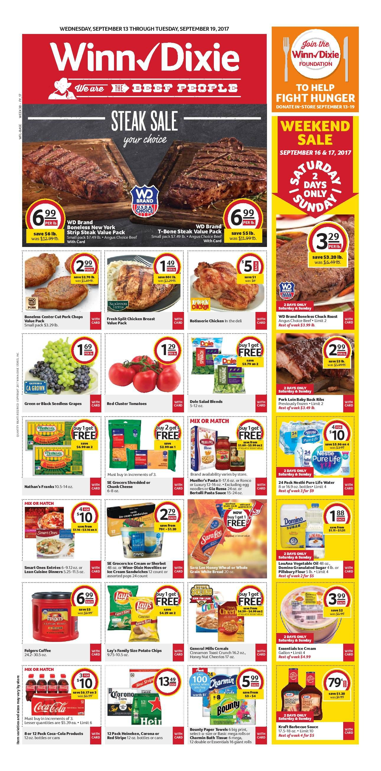 Winn Dixie Weekly Ad September 13 19 2017 httpwwwolcatalog