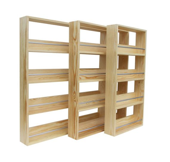 Solid Pine Spice Rack Contemporary Modern Style By SilverAppleWood