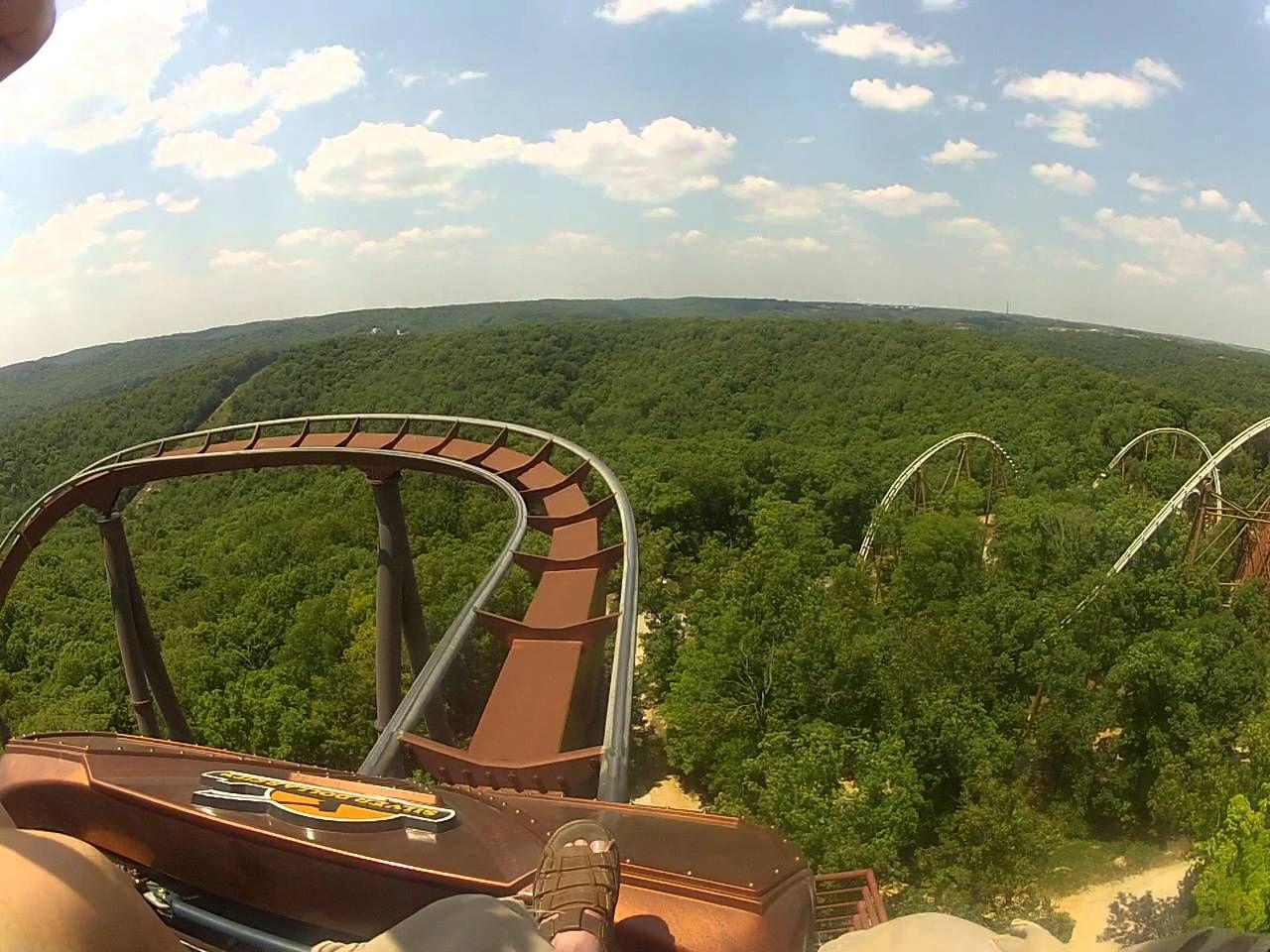 Wildfire Rollercoaster At Silver Dollar City Branson Mo Front Seat Pov Silver Dollar City Branson Vacation Roller Coaster