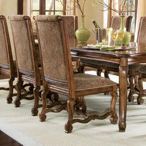 Credit is Given to Berhardt Furniture--These chairs come from the Villa Hermosa collection and I love them!