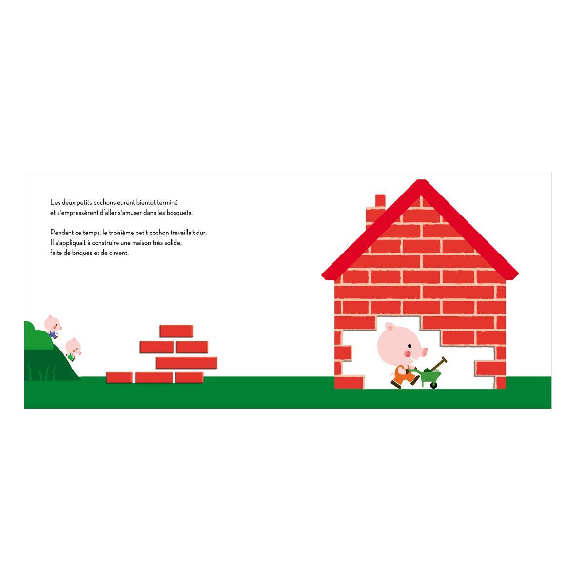 Livre Les trois petits cochons Conte gigogne pour enfant de 2 ans à 4 ans - Oxybul éveil et jeux