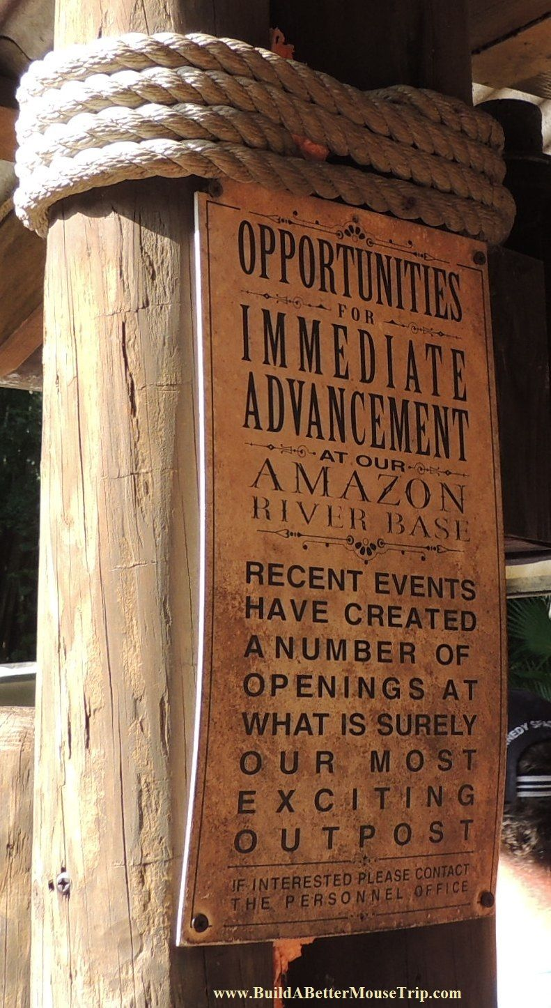 Sign At The Jungle Cruise Ride In The Magic Kingdom At Disney World