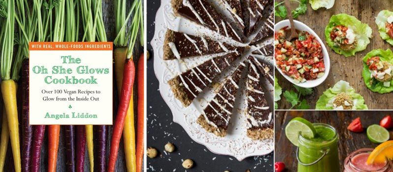 """Angela Liddon's book """"Oh, She Glows"""" is a collection of over 100 delicious #vegan #recipes, most of them gluten free, that take very little time to prepare."""