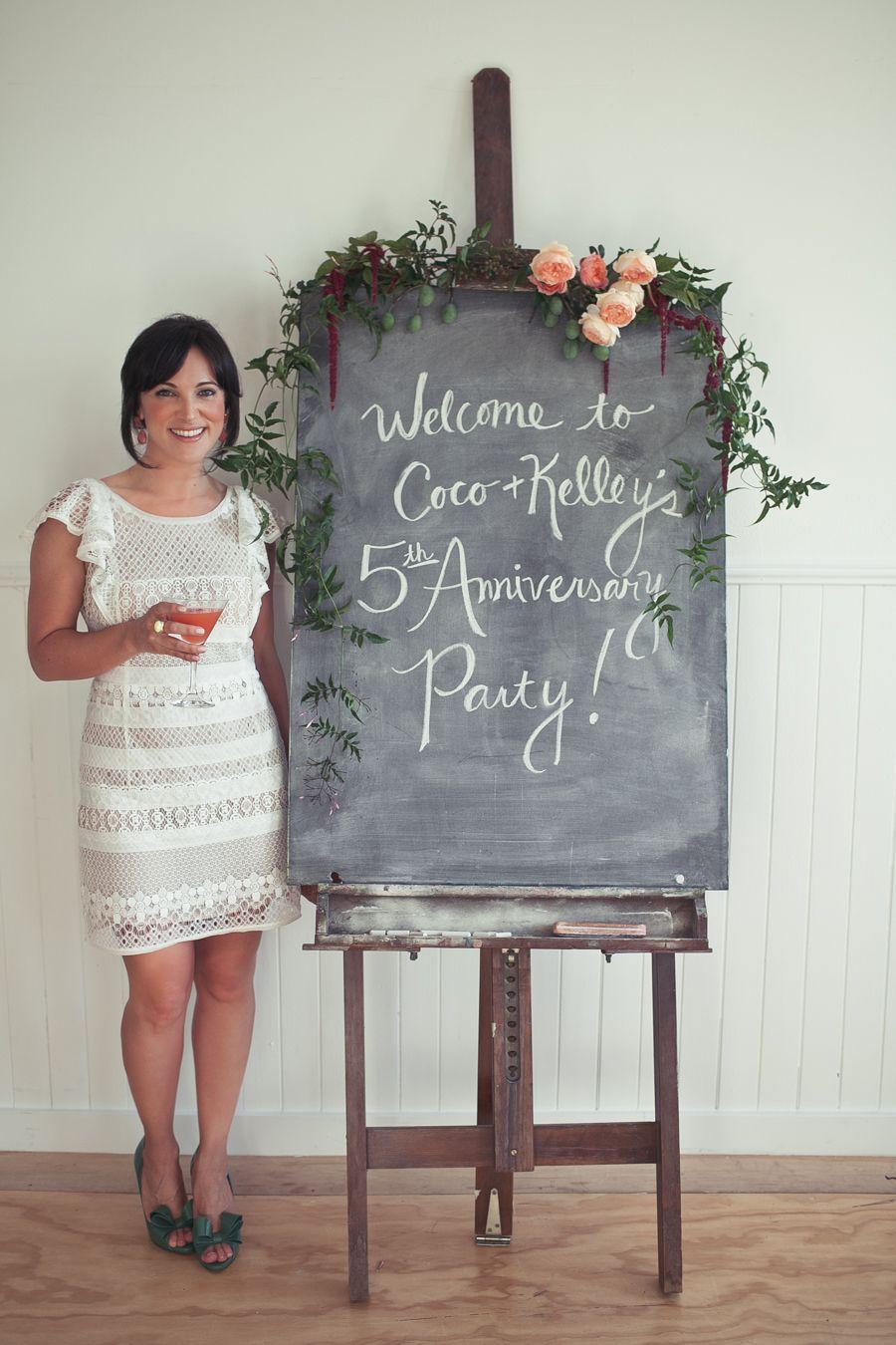Coco Kelley Chalk Board Anniversary Wedding Wedding Anniversary Celebration 75th Wedding Anniversary 5th Wedding Anniversary