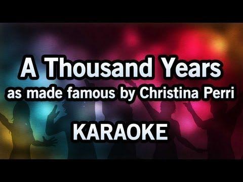 Karaoke A Thousand Years Christina Perri Christina Perri Karaoke Songs Karaoke