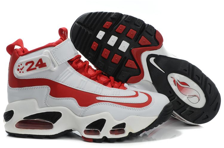 Nike Womens Griffeys Air Griffey Max 1 White Red Ken Griffey Shoes