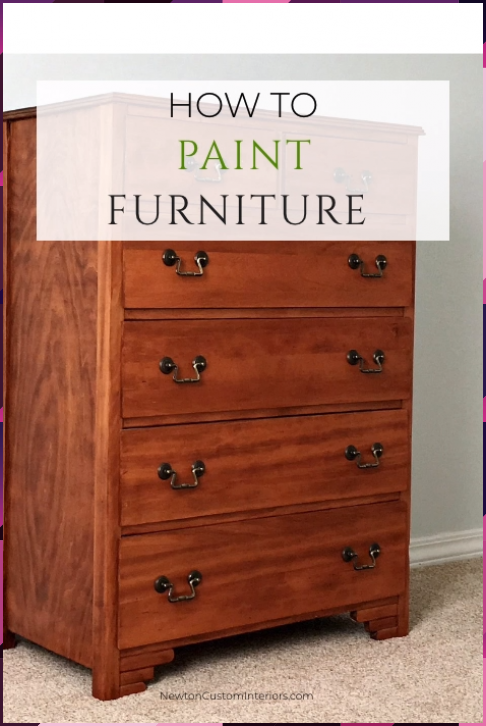 How To Paint Wood Furniture With No Brush Strokes In 2020 Painting Old Furniture Painting Wood Furniture Painting Furniture Diy