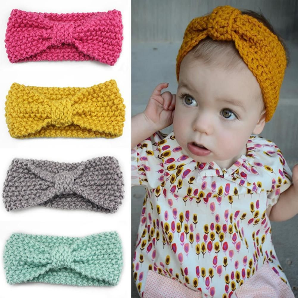 $1.51 AUD - Headband Baby Winter Head Wrap Knitted Bow Hairband ...