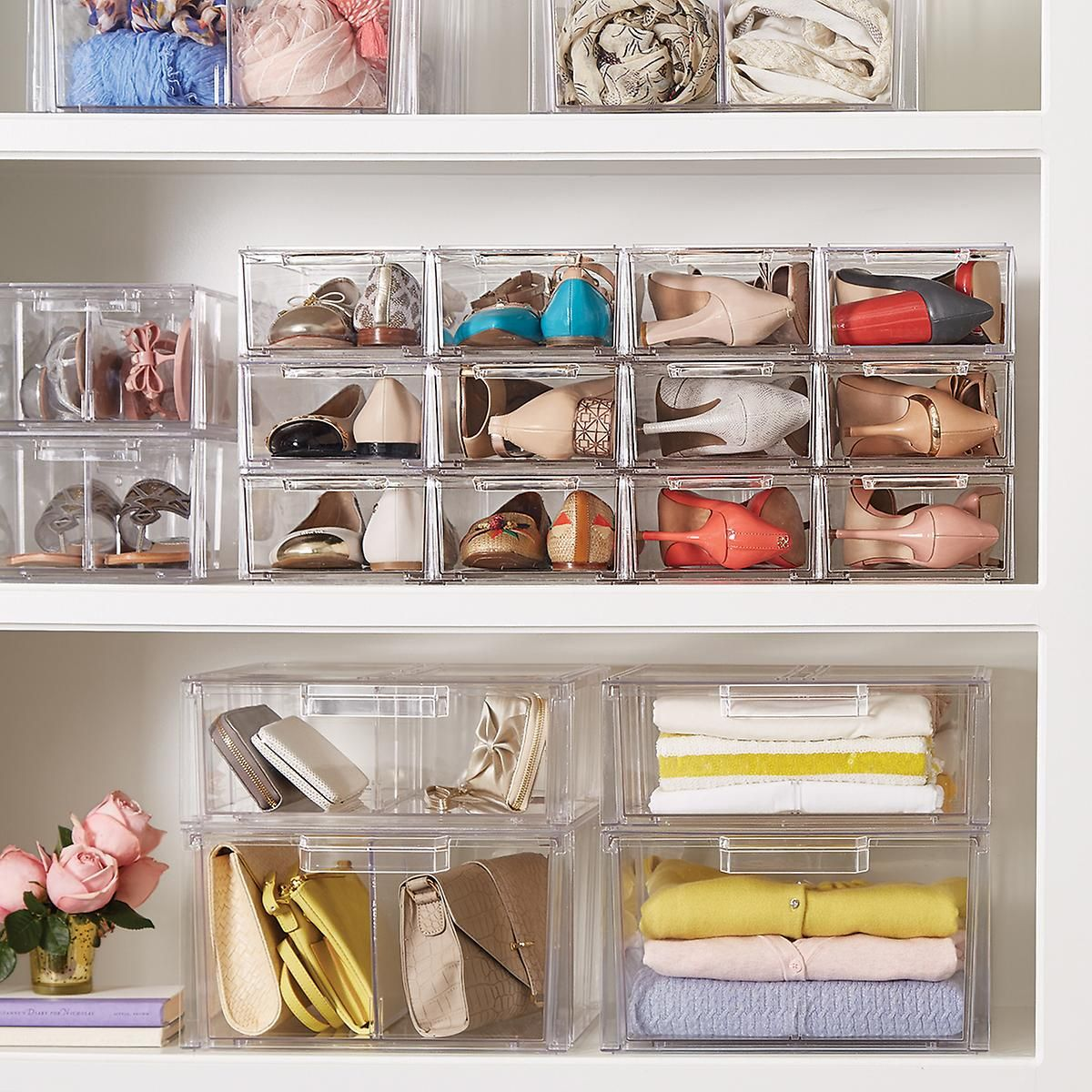 Clear Shoe Drawers   Clear Stackable Shoe Drawer | The Container Store