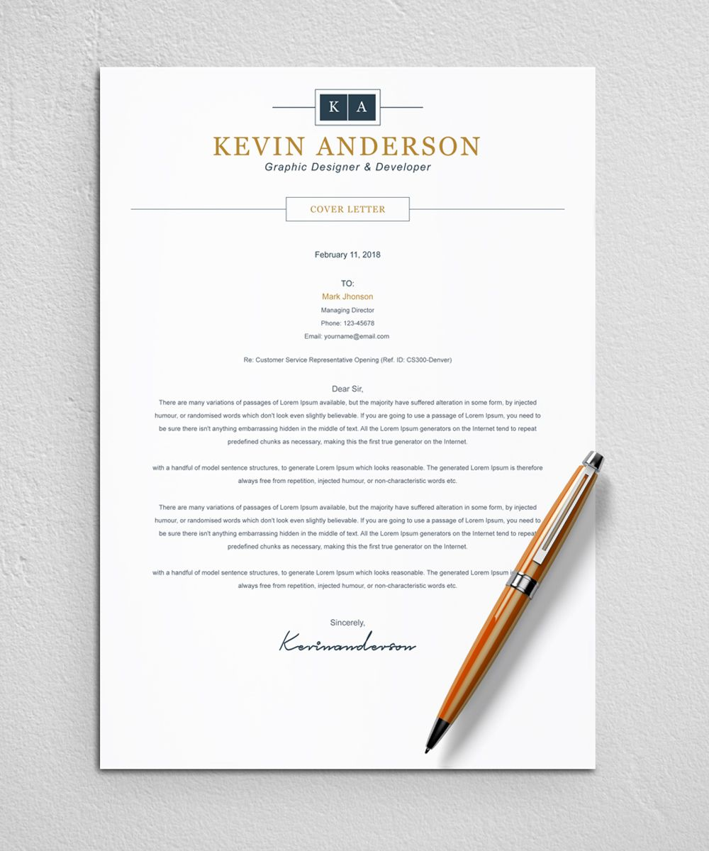 Kevin Anderson Resume Template 82728 Templates, Resume