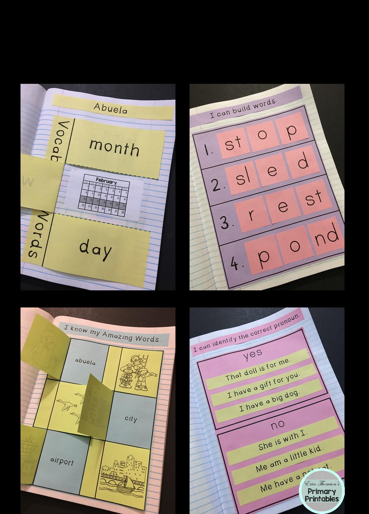 Abuela Interactive Notebook Reading Street Kindergarten