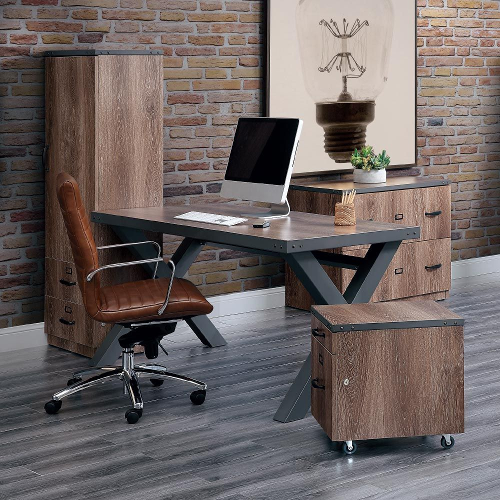 Industrial Home Office Furniture #homeoffice #officedesign