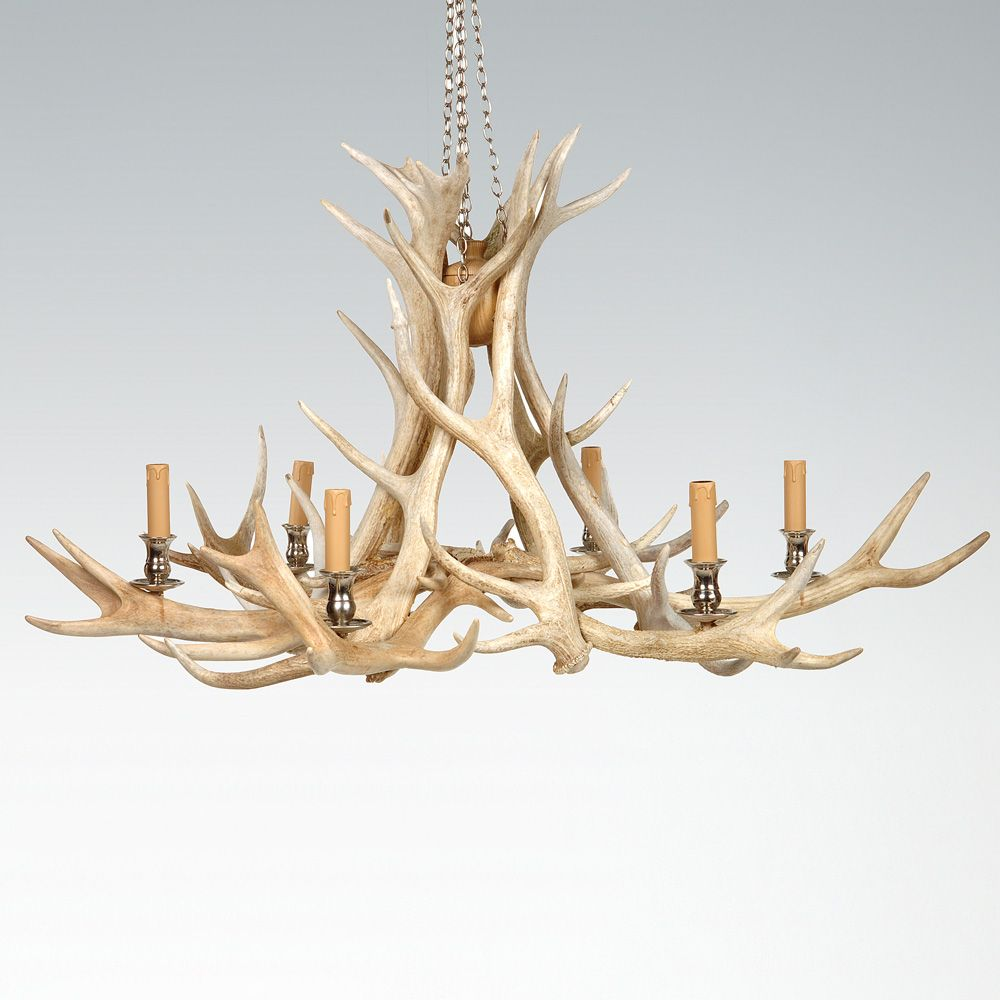 Click to view full sized version of this image wedding decor our original chandelier this is still the most popular design scottish red deer antlers are used to make this beautiful chandelier mozeypictures Choice Image