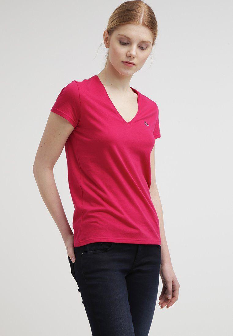 Lacoste T-shirt basique - pink - ZALANDO.FR
