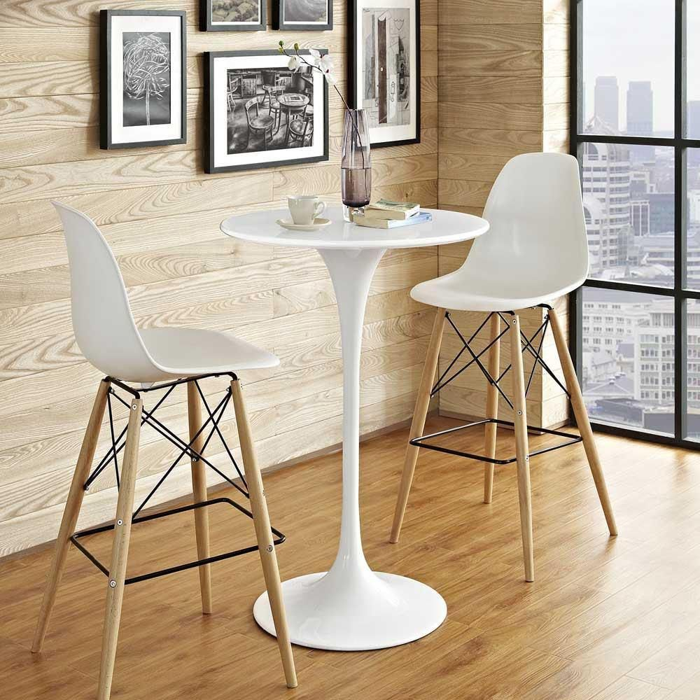 Photo of Modway Lippa 28″ Wood Bar Table in White