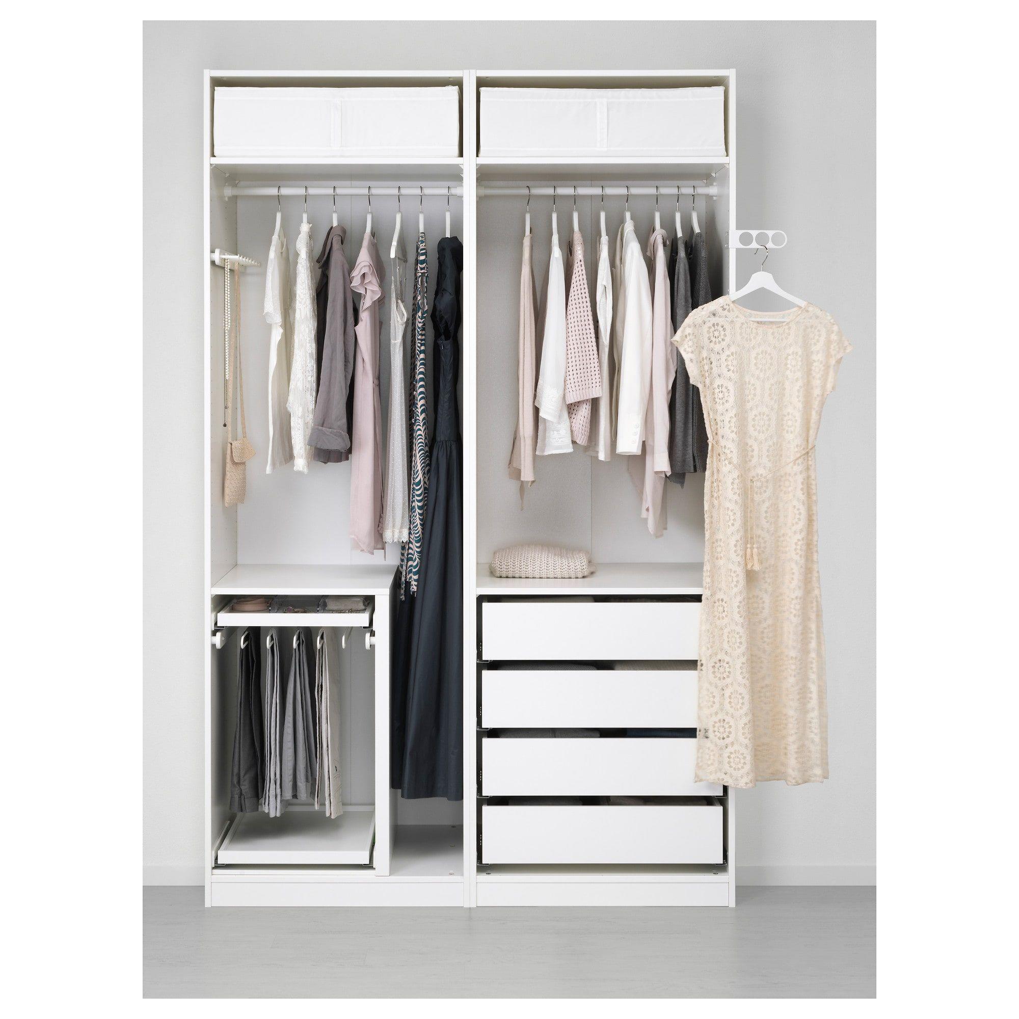 Pax Wardrobe White Hasvik White 59x26x93 1 8 Shop Online Or