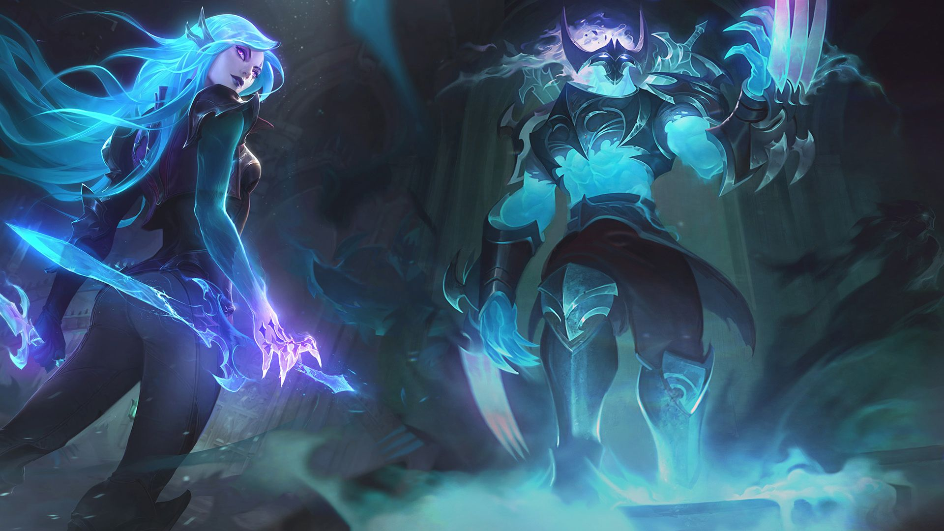 Katarina And Zed From League Of Legends 1920x1080 League Of Legends League Of Legends Game Mythical Creatures
