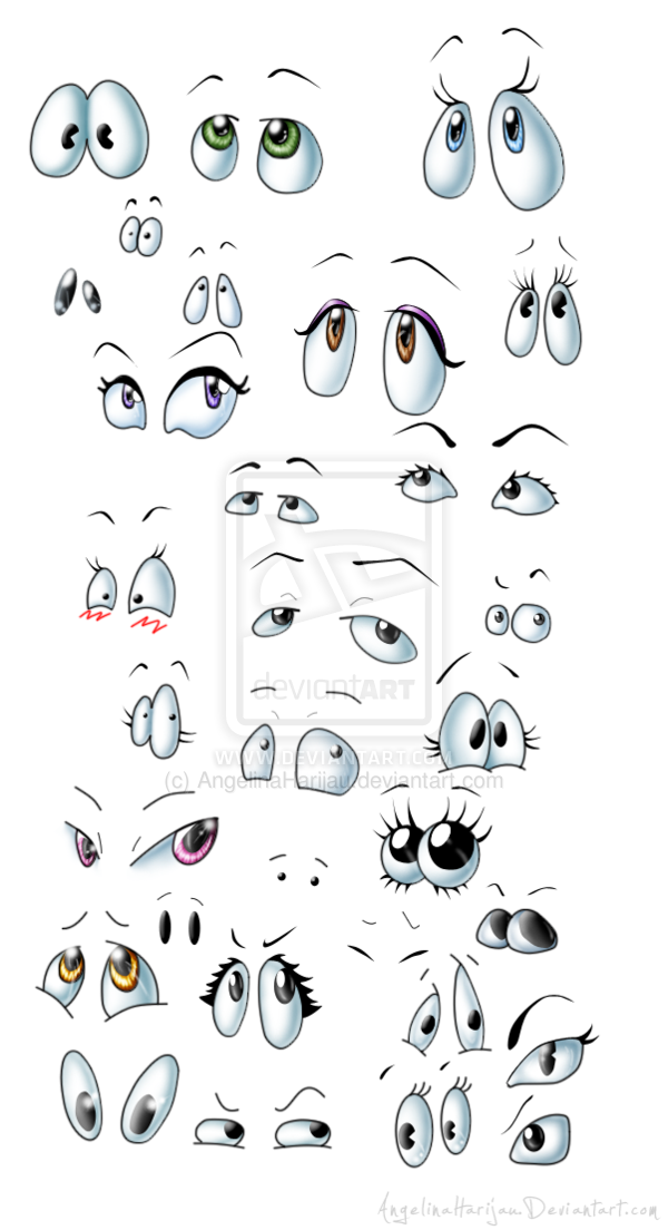 Cartoon Eyes Mix By Angi Shy On Deviantart Rock Painting Designs Rock Painting Art Pebble Art