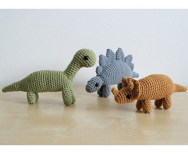 Stegosaurus (Dinosaur) pattern by June Gilbank | Crochet Dinosaurs ...