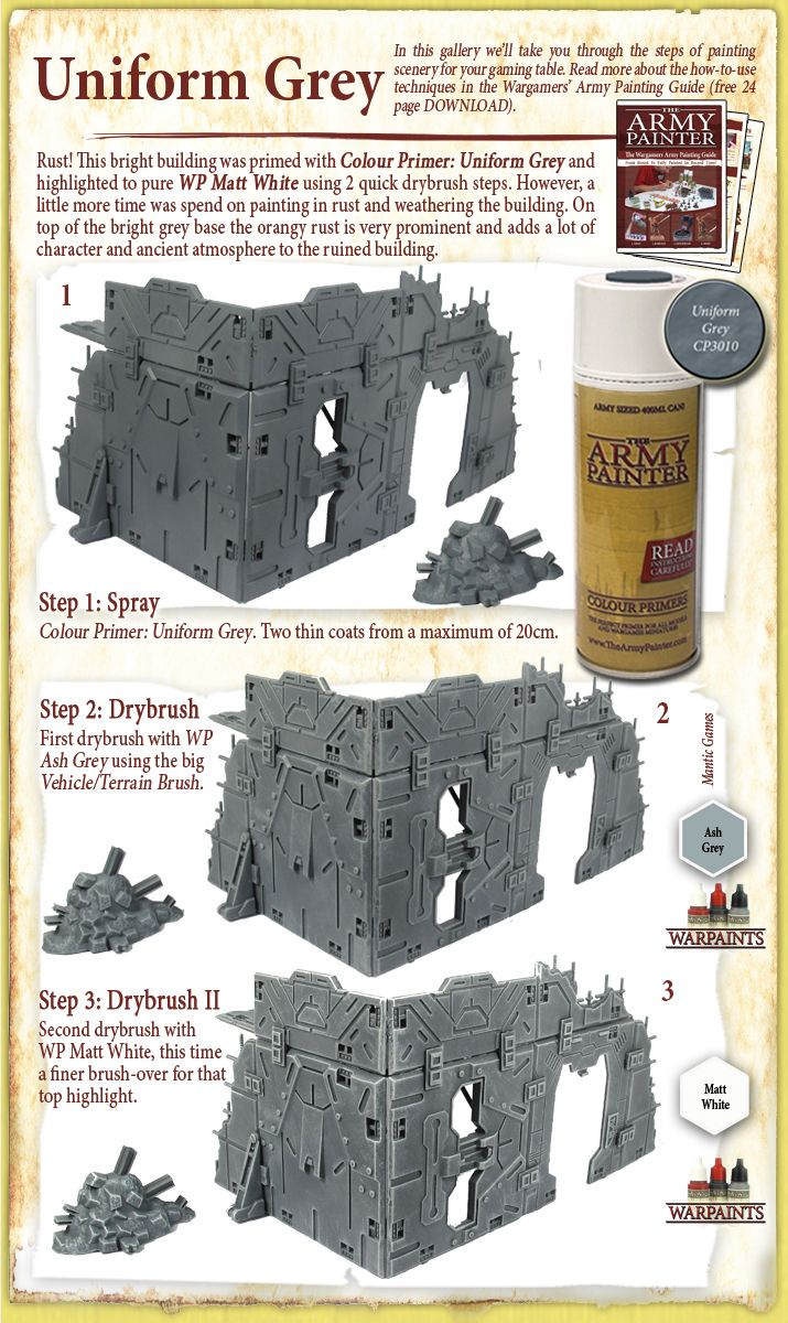 The Army Painter Dry Brushing Army Wargaming Terrain