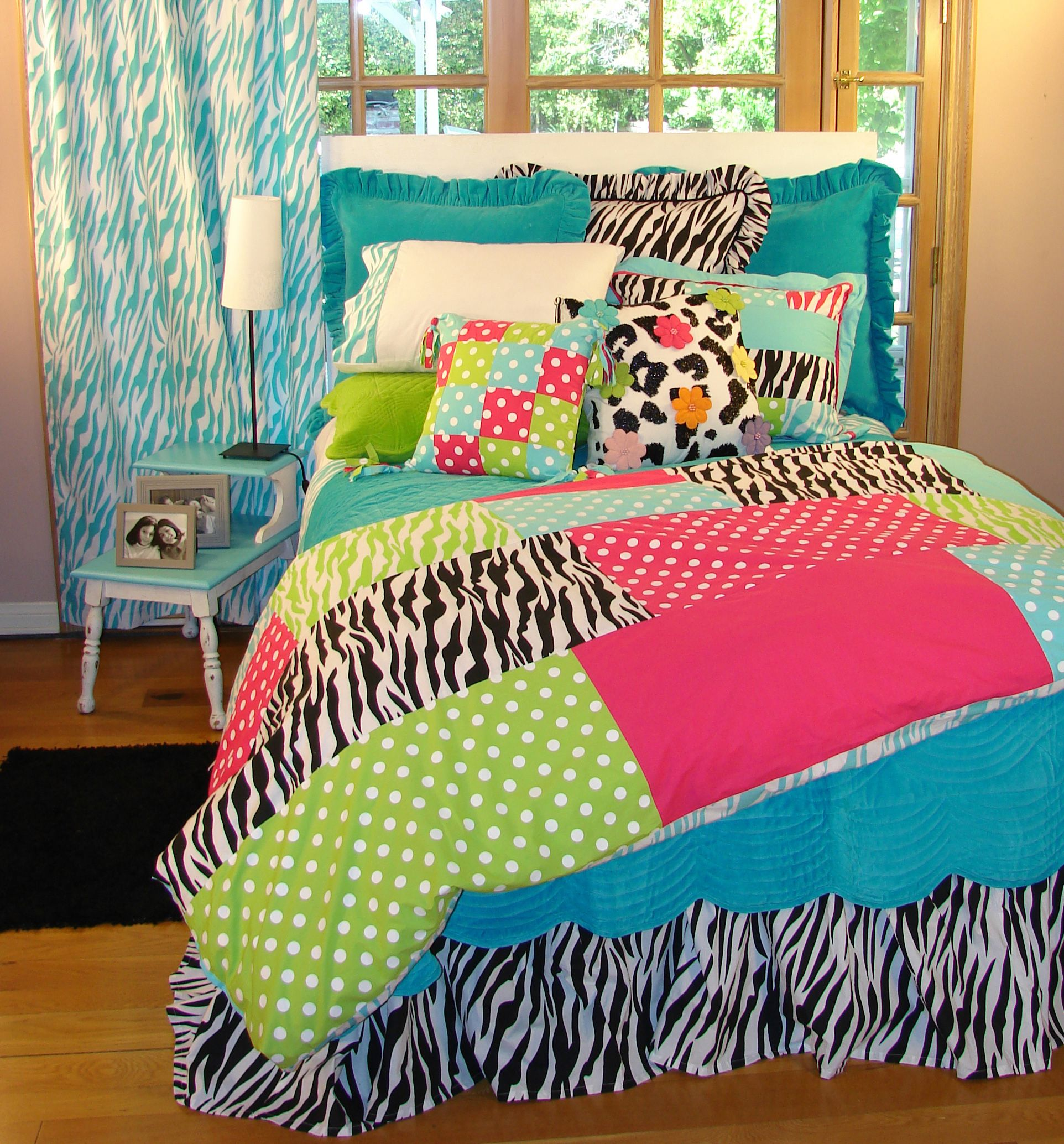 rainbow bedding multi colorful colored bed sets