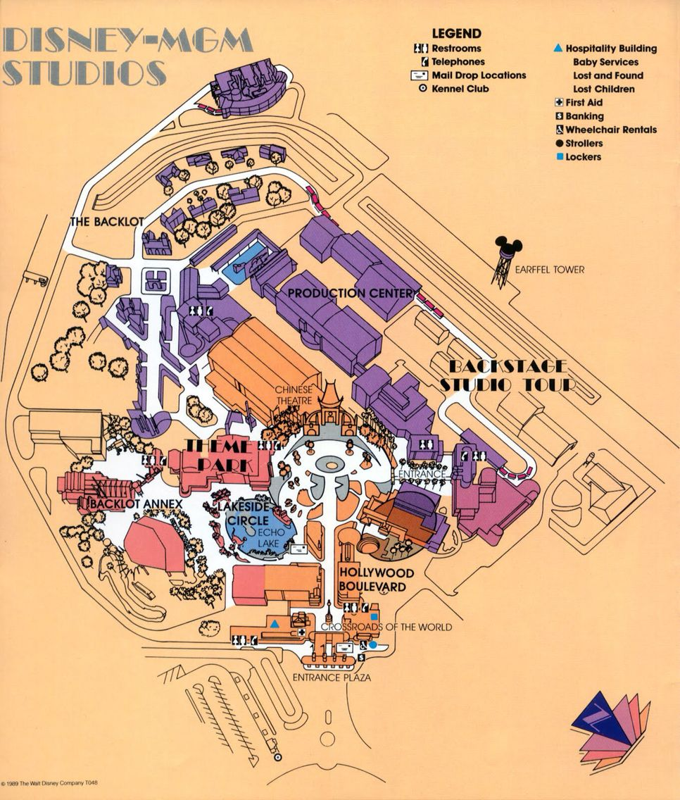 Old MGM Map | Walt Disney World | Pinterest | Disney, Walt disney ...