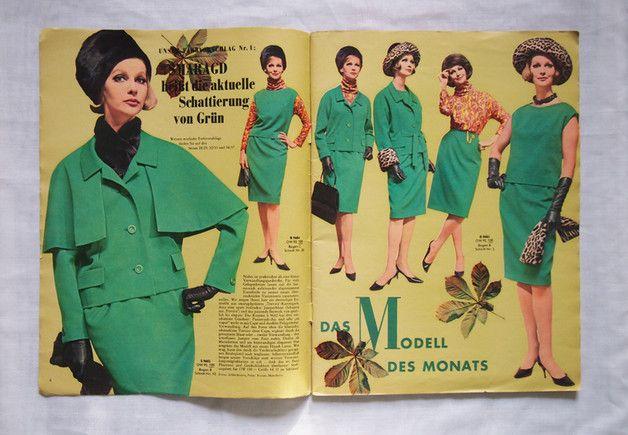 Vintage Magazine - 60er Jahre Schnittmuster - Neuer Schnitt 9 / 1963 ...