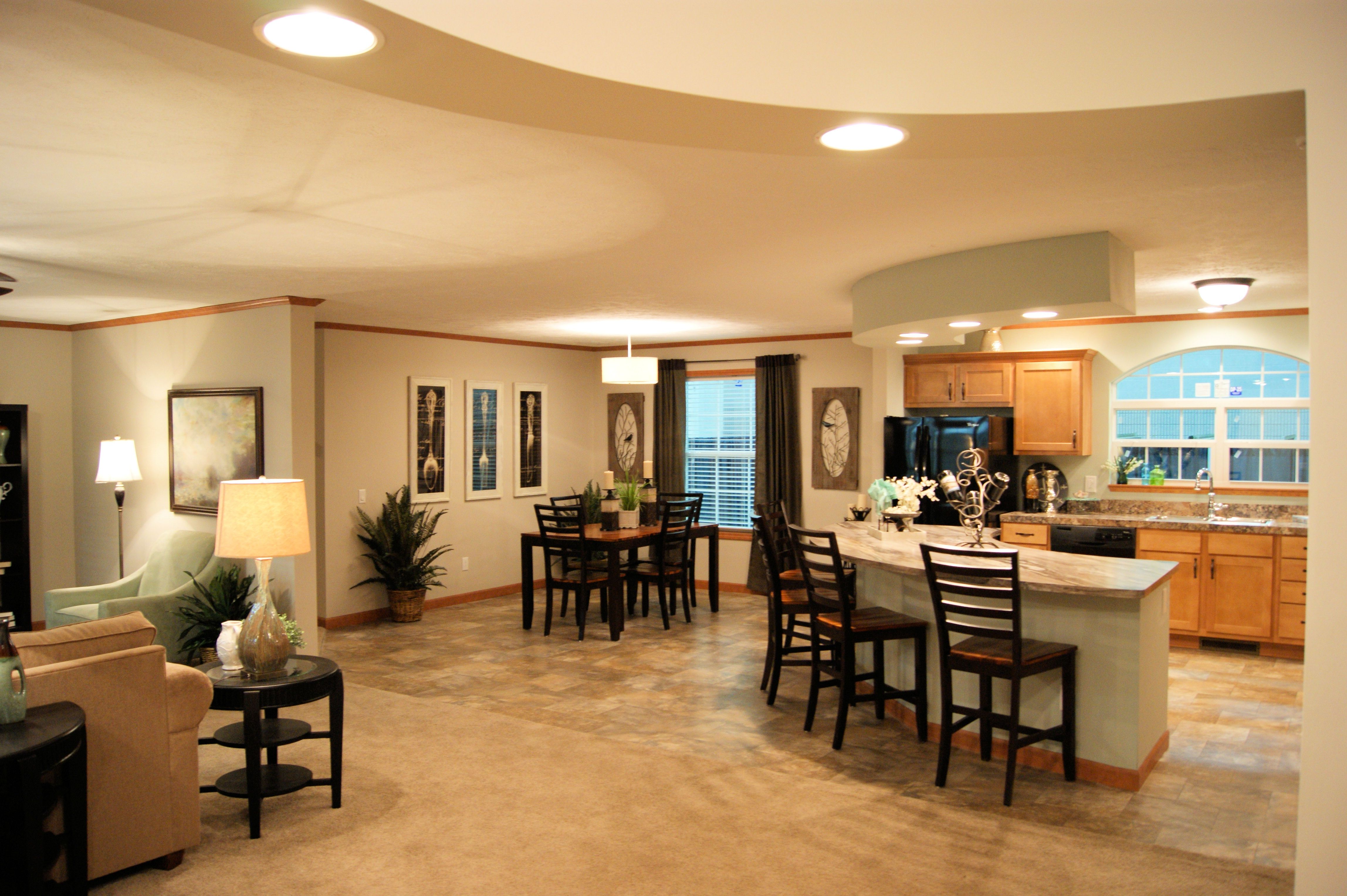 Mobile Homes With Open Floor Plans Kitchen Floor Plans Manufactured Home Kitchen Flooring