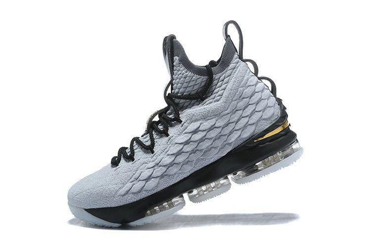bce457ab858 Genuine Nike LeBron 15 XV EP 2018 Mens Basketball Sneakers Grey Black Gold  Nike LeBron 15