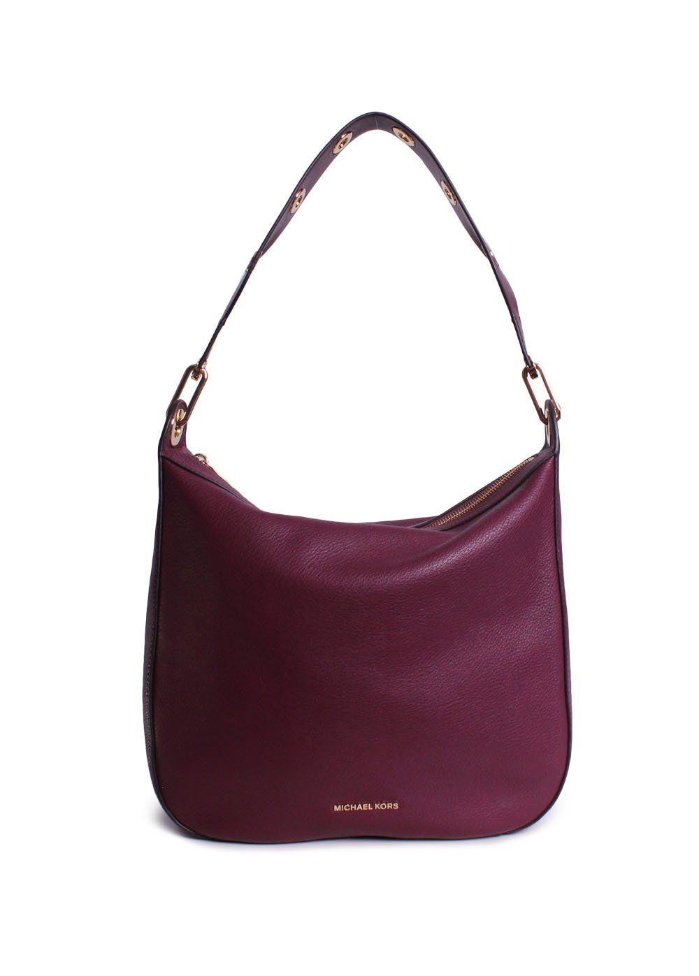 29b23b9c7ba09 Michael Michael Kors Raven Large Leather Shoulder Bag Purple    You can get  additional details at the image link. (This is an affiliate link) 0