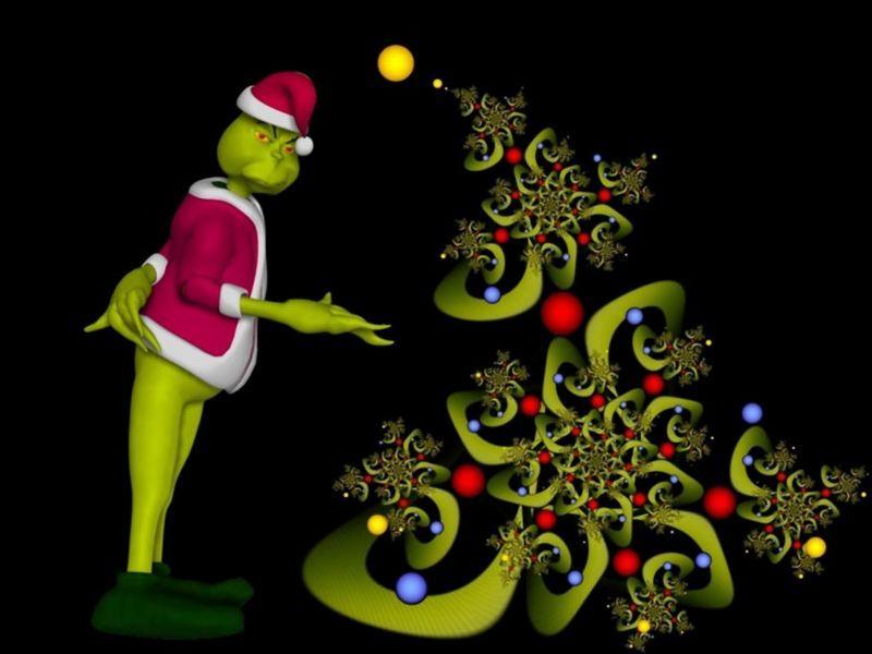 Fondos Para Pantallas De Grinch Para Navidad: Grinch, Fractales Y
