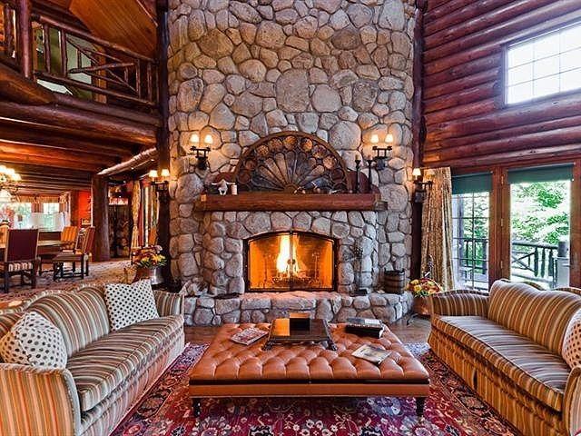Beautiful stone fireplace!!!