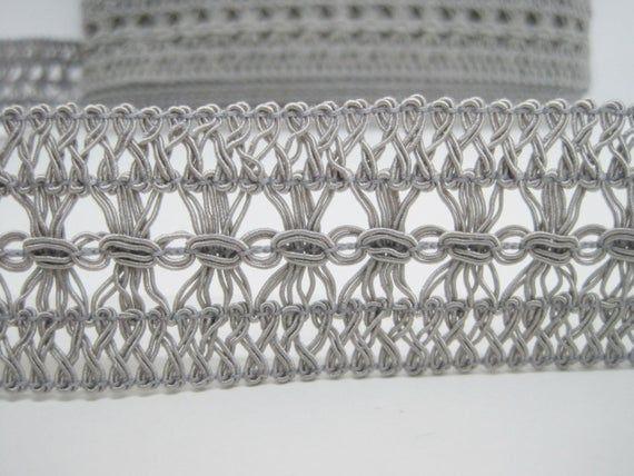 Silver Braid Trimmings 5 Yards 1//2 Silver Metallic Gimp Trims