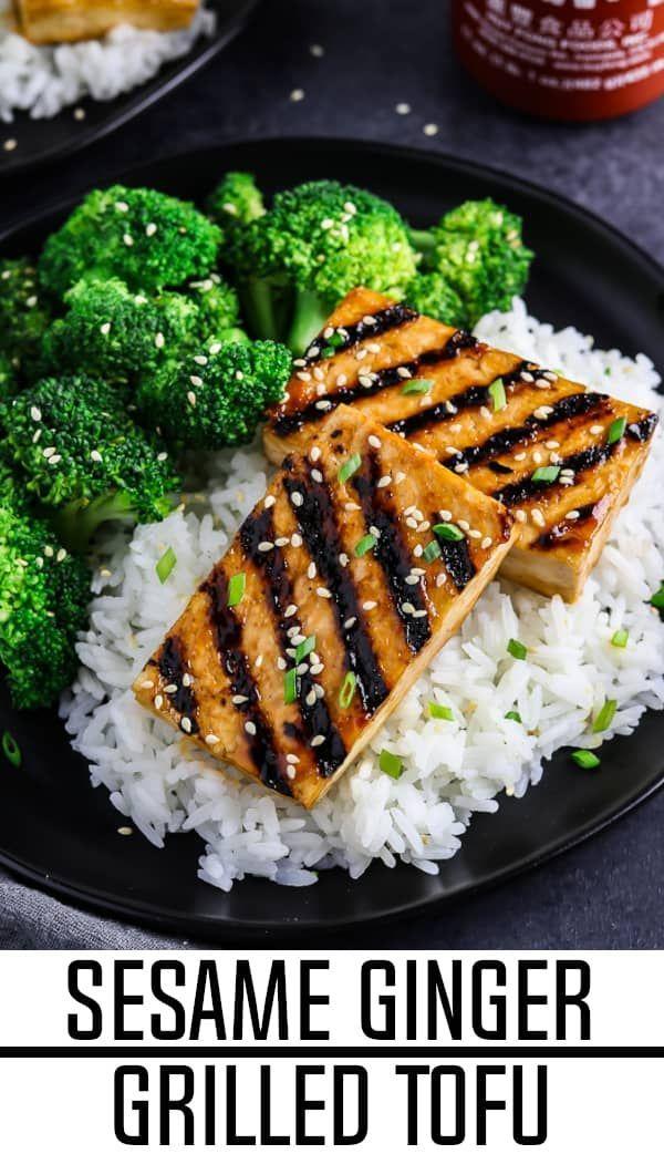Sesame Ginger Grilled Tofu images