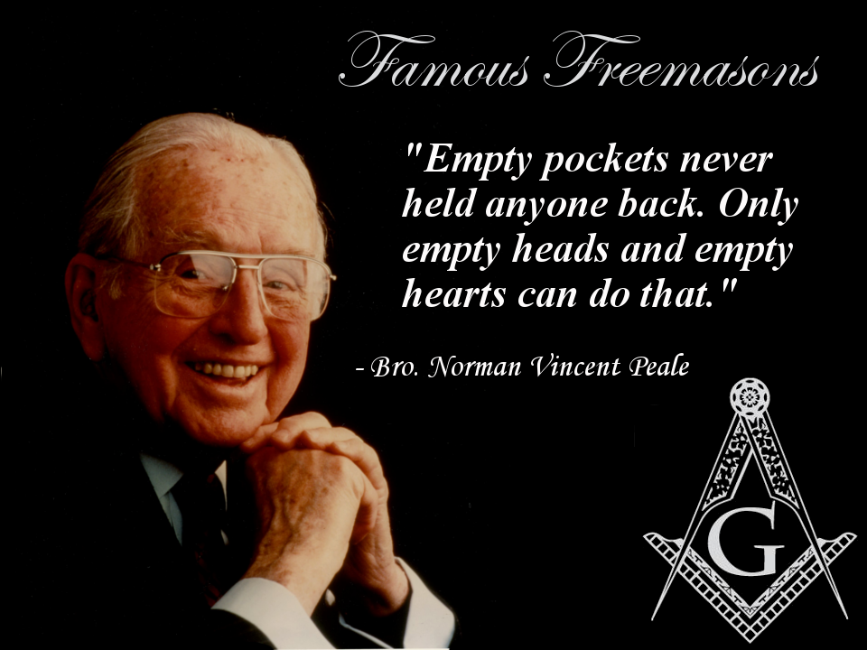 Image result for norman vincent peale freemason