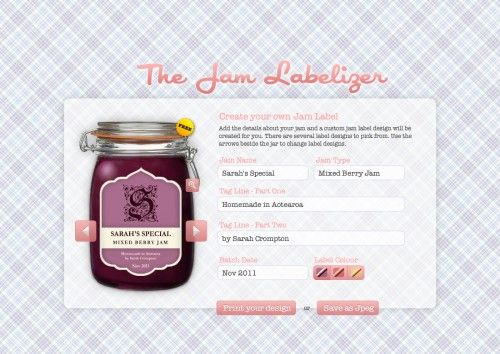 a free jam label generator can be used to label anything really