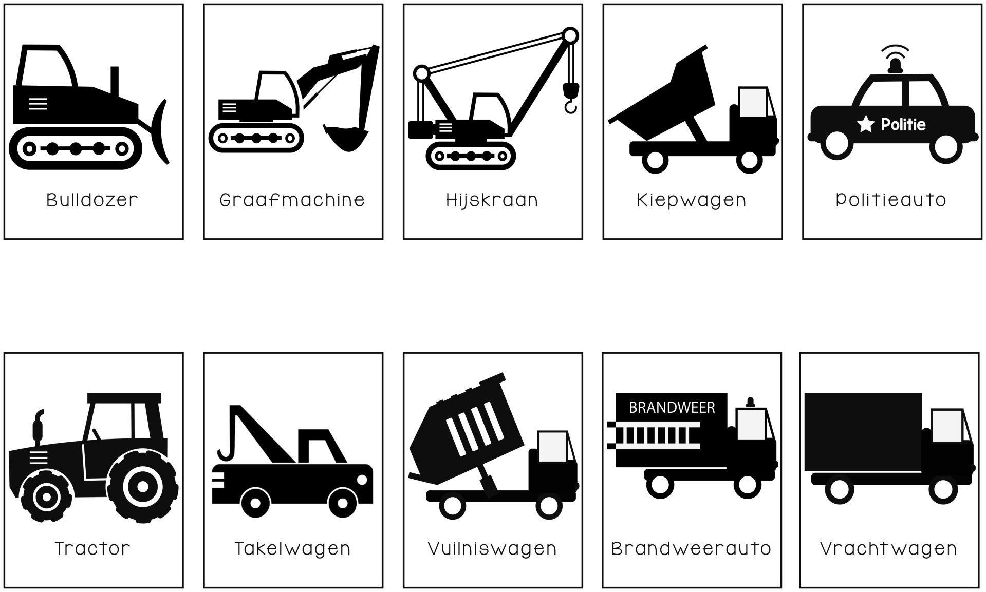 Voertuigen Posters Styled By Joyce Takelwagen Vuilniswagen Brandweerauto