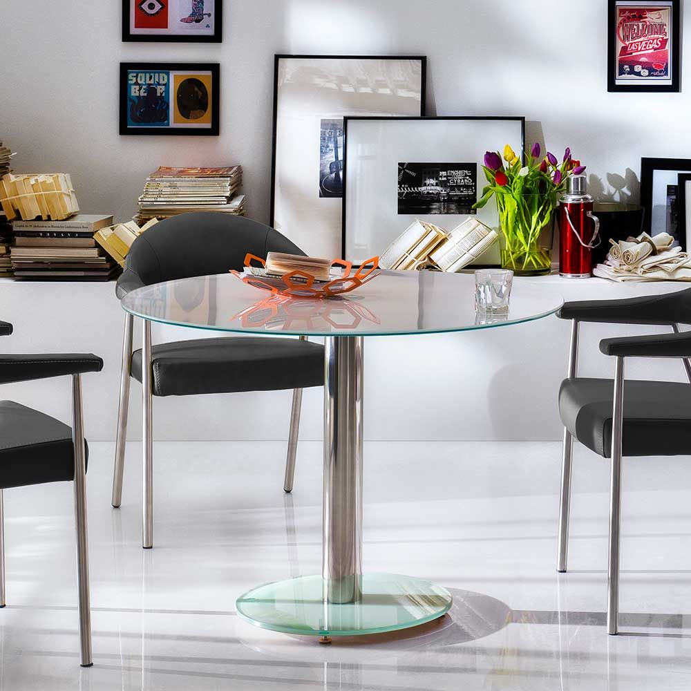 glastisch chrom large size of couchtisch weis hochglanz. Black Bedroom Furniture Sets. Home Design Ideas