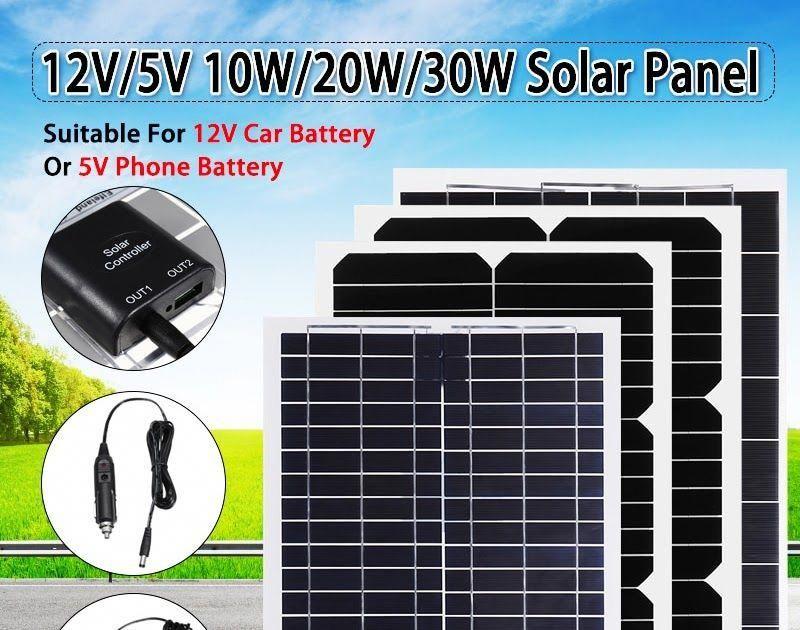Best Seller Flexible Solar Panel Plate 12V/5V 10W 20W 30W Solar