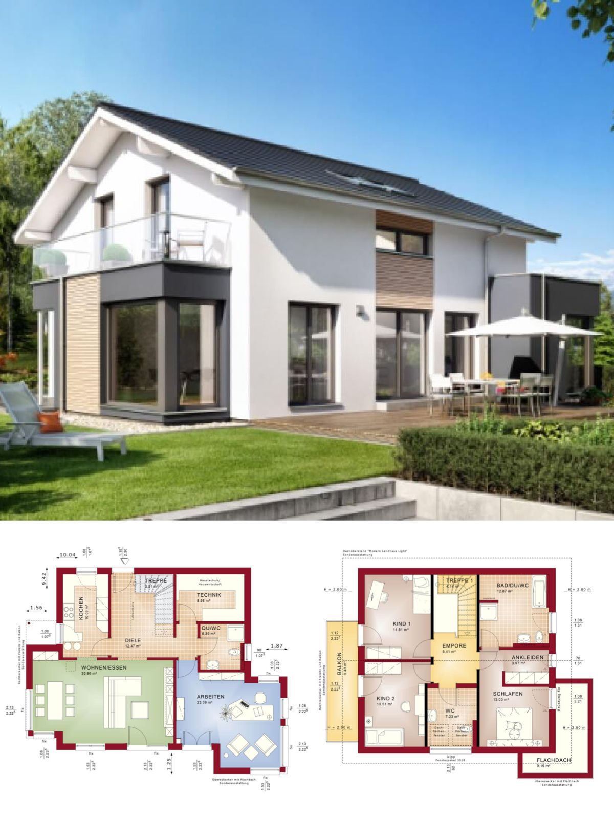 Einfamilienhaus neubau modern mit satteldach architektur for Hausbau ideen bauplane