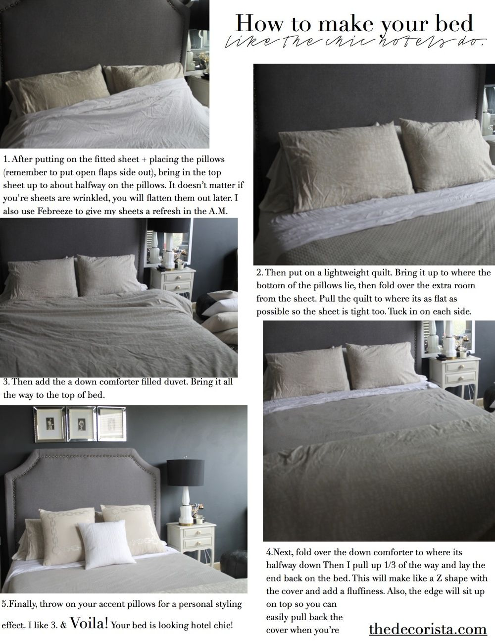 How To Make Your Bed The Hotel Way Decorista