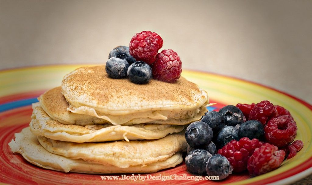 visalus pancakes recipe: 1/2 cup egg whites, 1/4 tsp baking powder, 2 scoops of vi shake.  Whip & cook on non-stick skillet. Sprinkle with cinnamon. Yum, easy, healthy and gluten free :-).