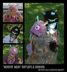 "Crochet Pattern: ""Monster Mash"" hat pattern by A Crocheted Simplicity  #mmmakers #crochethat #handmade #crochetmonster"
