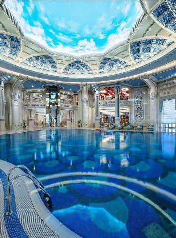 Fabulous indoor pool at the ritz carlton hotel riyadh - Hotels in riyadh with swimming pools ...