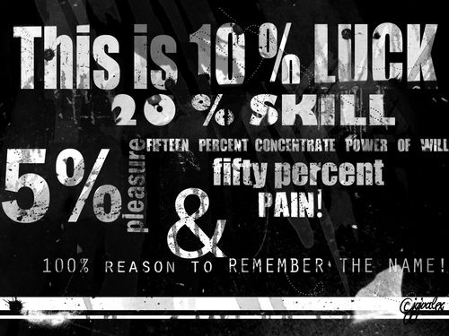 50 percent skill